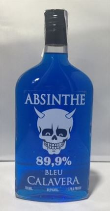 ABSENTHA CALAVERA BLUE PET 35CL 89,9% VOL