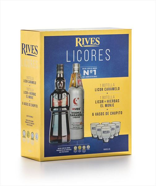 PACK RIVES LICOR C/CHUPITOS (6 UNID.)
